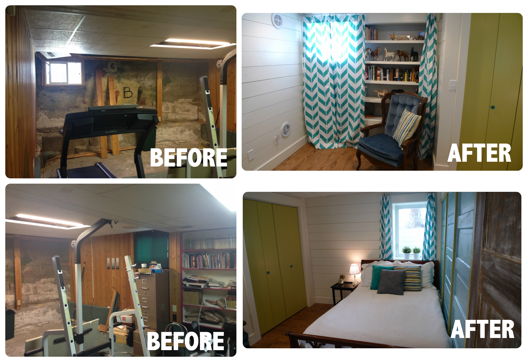 From water damage to basement remodel on a budget!